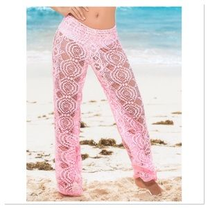 Pink Lace Cover-Up Pants